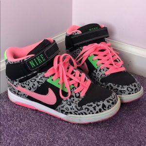 Leopard Neon Nikes